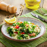 Healthy couscous salad with vegetables Stock Images