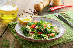 Healthy couscous salad with vegetables Royalty Free Stock Image