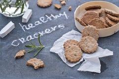Healthy crackers Stock Photo