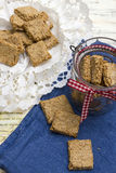 Healthy crackers Stock Images