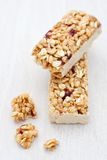 Healthy cranberry snack bar Stock Photos