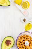Healthy Creamy Avocado Hummus. This creamy avocado hummus is an absolute star among dips & spreads Stock Images