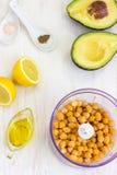 Healthy Creamy Avocado Hummus. This creamy avocado hummus is an absolute star among dips & spreads Royalty Free Stock Photos