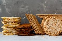 Healthy crisp bread Stock Image
