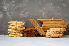 Healthy crisp bread Stock Photos
