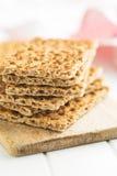 The healthy crispbread. Royalty Free Stock Image