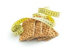 The healthy crispbread. Stock Image
