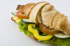 Healthy croissant sandwich Royalty Free Stock Photo