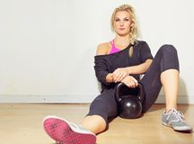 Healthy Crossfit Girl Relaxing Royalty Free Stock Photo