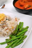 Healthy curry  rice set Royalty Free Stock Photography