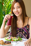 Healthy cute girl Stock Images