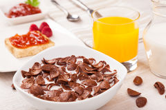 Healthy dairy breakfast Stock Images