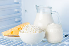 Healthy dairy products Royalty Free Stock Images