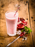 Healthy delicious pomegranate smoothie Stock Photography