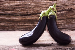 Healthy and delicious purple eggplants Royalty Free Stock Image