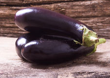 Healthy and delicious purple eggplants Royalty Free Stock Photo
