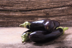 Healthy and delicious purple eggplants Royalty Free Stock Photography