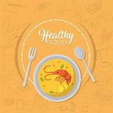 Healthy seafood concept Royalty Free Stock Photography