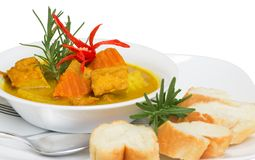 Healthy delicious tofu curry Royalty Free Stock Photos