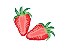 Healthy and deliciuos strawberry Stock Photos