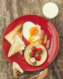 Healthy and delisious breakfast Royalty Free Stock Photos