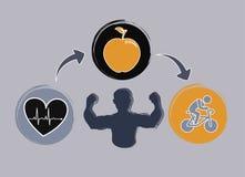 Healthy design royalty free illustration