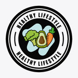 Healthy design. Over white background vector illustration Stock Photos