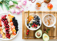 Healthy Dessert With Fruit Royalty Free Stock Image