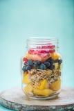Healthy detox brunch in mason jar Stock Images
