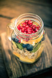 Healthy detox brunch, vintage tonned effect Stock Photography