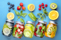 Healthy detox water Royalty Free Stock Photo