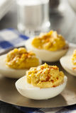 Healthy Deviled Eggs as an Appetizer Royalty Free Stock Photo