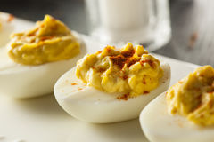 Healthy Deviled Eggs as an Appetizer Royalty Free Stock Image