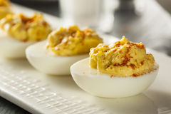 Healthy Deviled Eggs as an Appetizer royalty free stock photography