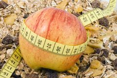 Healthy Diet. An apple and some cornflakes - healthy diet Stock Photo