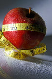 Healthy diet- apple. Concept for a healthy diet- eating a diet rich in fruits helps shed pounds Stock Photography