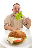 Healthy diet choices concept Stock Photos