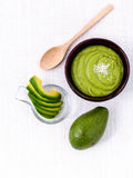 Healthy diet and Clean food. Avocado smoothie on white backgrou Stock Photo