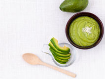 Healthy diet and Clean food. Avocado smoothie on white backgrou Stock Image