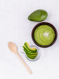Healthy diet and Clean food. Avocado smoothie on white backgrou Stock Photography