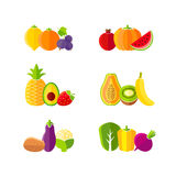 Healthy diet design elements with fruits and vegetables Royalty Free Stock Image
