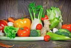 Healthy diet - Eating healthy food stock photo