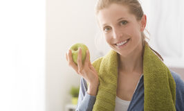 Healthy diet and fitness royalty free stock images