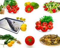 Healthy diet food photo collage Royalty Free Stock Images