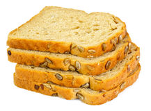 Healthy and diet food: rye bread with sunflower seeds Royalty Free Stock Photography