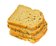 Healthy and diet food: rye bread with sunflower seeds Royalty Free Stock Photos