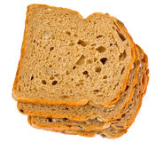 Healthy and diet food: rye bread with sunflower seeds Stock Images