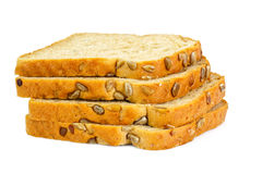 Healthy and diet food: rye bread with sunflower seeds Stock Photos