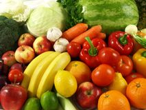Healthy diet - friuts and vegetables Stock Photo