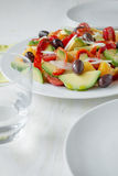 Healthy diet. Fruit and vegetables salad Stock Image